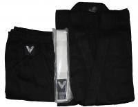 Кимоно каратэ черное укор. рукав 3244В-2 - спортинвентарь оптом, Пумори-Спорт, Екатеринбург