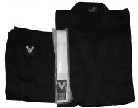 Кимоно каратэ черное укор. рукав 3244В-3 - спортинвентарь оптом, Пумори-Спорт, Екатеринбург
