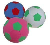 Мяч-попрыгун спорт с текстильной отделкой PVC ткань 240гр микс в сетке 441573 - спортинвентарь оптом, Пумори-Спорт, Екатеринбург