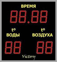 Табло часы-термометр №6 - спортинвентарь оптом, Пумори-Спорт, Екатеринбург