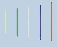 Палка гимнастическая алюминиевая  с полимерным покрытием d=16, L=600мм - спортинвентарь оптом, Пумори-Спорт, Екатеринбург