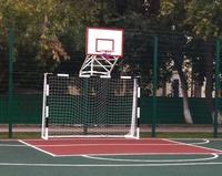 Ворота футбольные с фермой и щитом баскетбольным металлическим.Сертифицированные. - спортинвентарь оптом, Пумори-Спорт, Екатеринбург