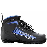 Ботинки лыжные Motor BLAZZER NNN черный, лого синий ИК36-01-08 - спортинвентарь оптом, Пумори-Спорт, Екатеринбург