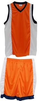 Форма баскетбольная Melior  оранж/бел/т.син р.52-182 L МВ01-702 - спортинвентарь оптом, Пумори-Спорт, Екатеринбург