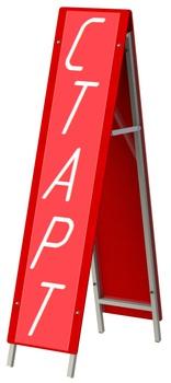 """700.918.2 Стойка """"Старт-финиш"""" складная - спортинвентарь оптом, Пумори-Спорт, Екатеринбург"""