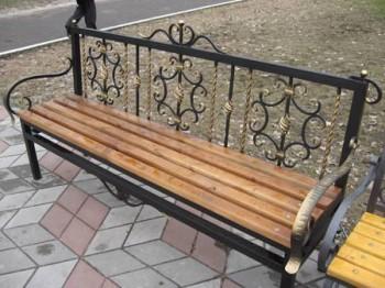 Скамейка кованная sk1 - спортинвентарь оптом, Пумори-Спорт, Екатеринбург